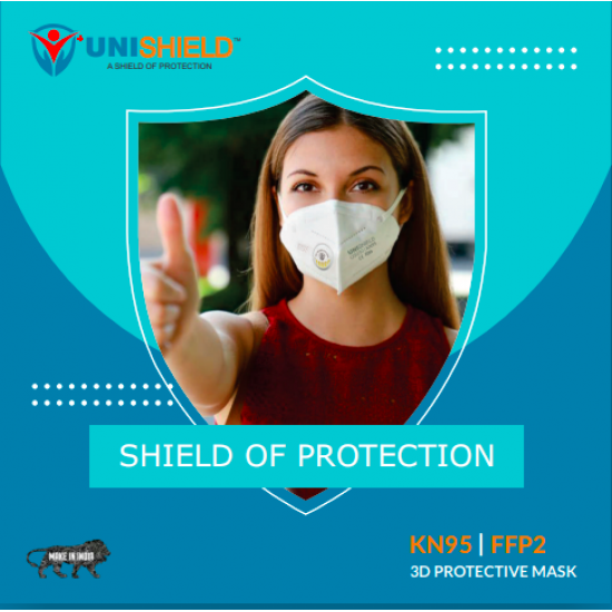 UNISHILED N 95 Mask With Out Respirator ( FDA Approved )