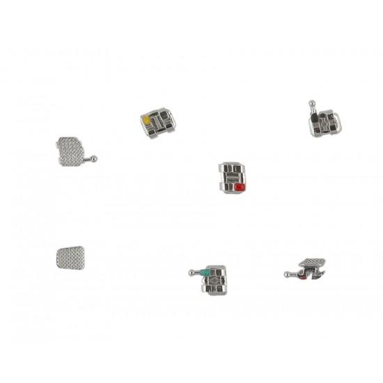 ORTHO SPARK Mini Metal Braces MBT Hooks on 3,4,5 ( GOLD SERIES )